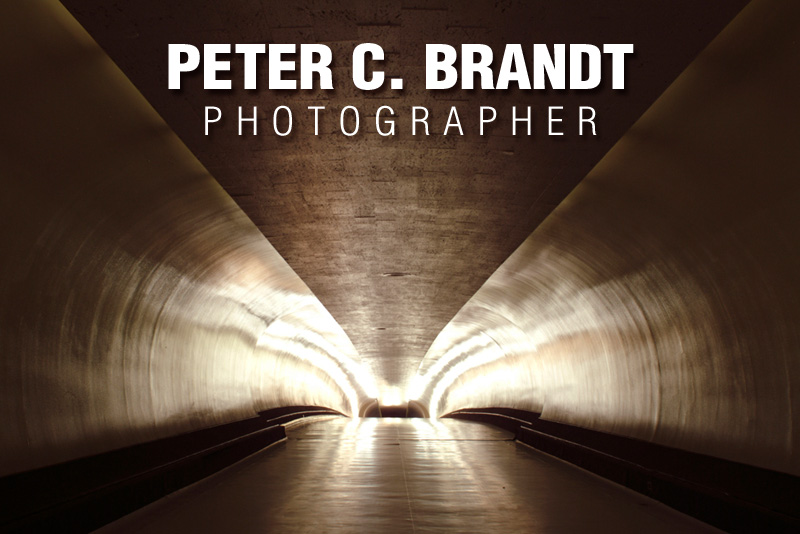 Peter C. Brandt, photographer-artist photographing architecture for the art, for it's abstract and graphic shapes, in sectional views and for architectural artifacts.  Aeriel, atmospheric, mirrored / butterfly / multiplied, moody, reflections and in black / white and color photos.